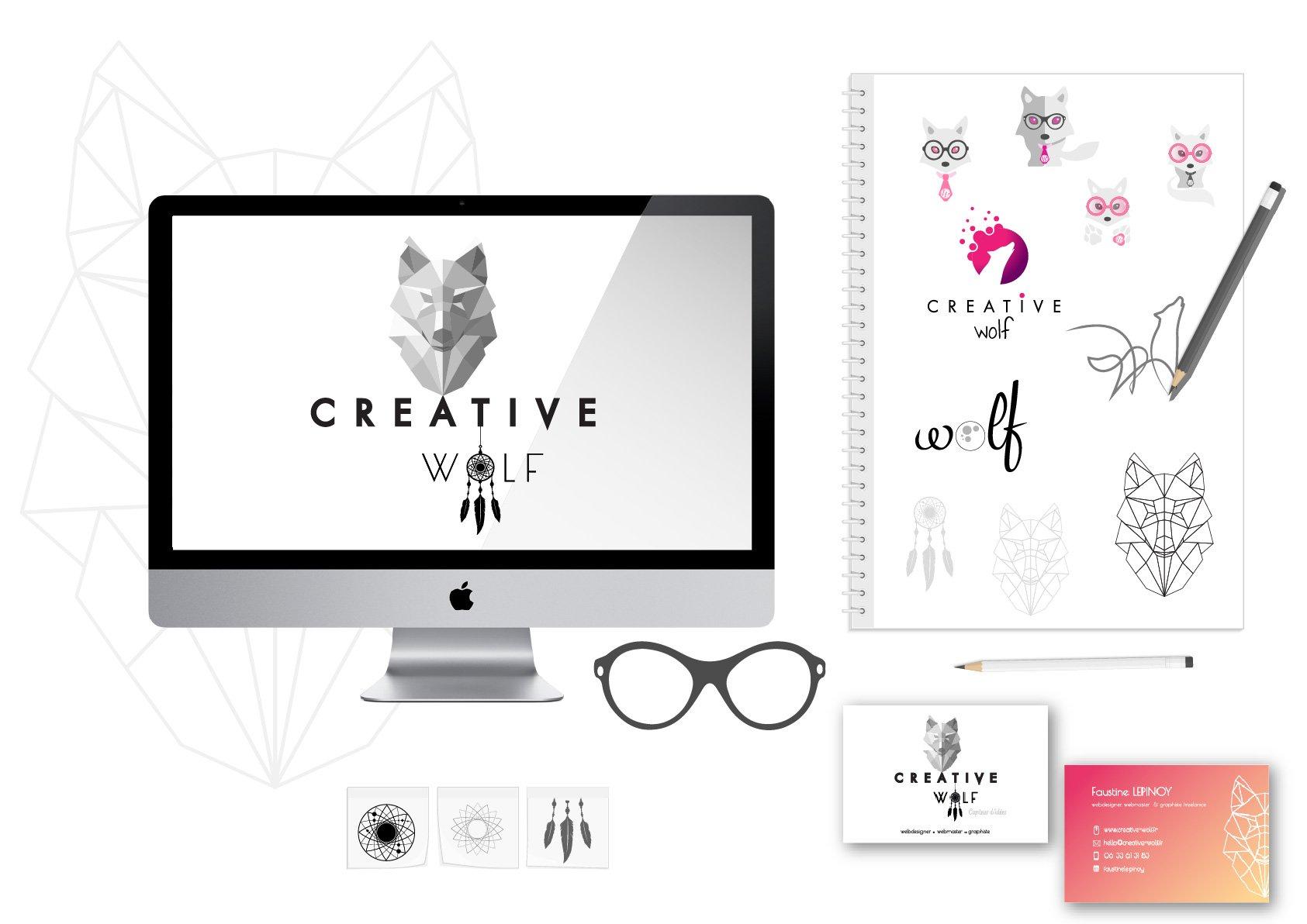 Creative Wolf - Identite visuelle