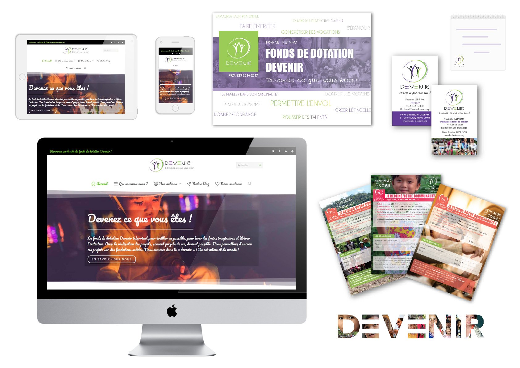 Fonds de dotation Devenir - Identite visuelle